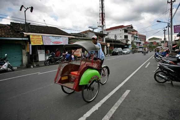 Pedicab, bikecab, becak, bicitaxi .... велорикша Yogyakarta23